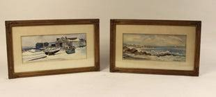 For Auction: ADA HAYES W/C NH COASTAL SCENE (#0167) on Oct 29, 2020 | Boyd  Auctions in ME