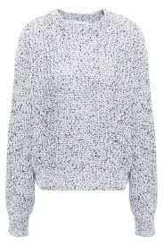 ryce marled open knit cotton sweater