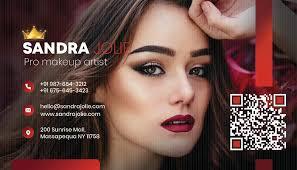 pro makeup artist business card