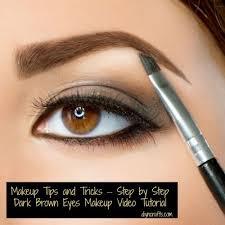 step by step dark brown eyes makeup