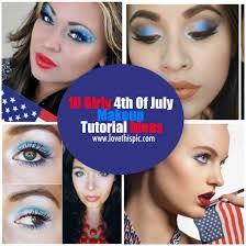 10 y 4th of july makeup tutorial ideas