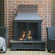 36 steel and slate outdoor fireplace