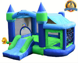 Amazon Com Island Hopper Game Room With Shaded Canopy Recreational Kids Bounce House With Padded Floor Side Room Basketball Target Throw Tic Tac Toe Sports Outdoors