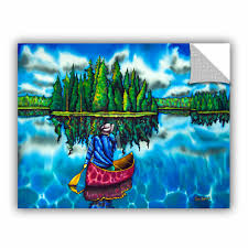 Artwall Daniel Jean Baptiste Canoeing Ontario Removable Wall Decal Wayfair