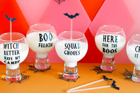 Diy Halloween Pun Glass Vinyl Stickers For Halloween Party Bespoke Bride Wedding Blog