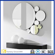 whole large round silver mirror