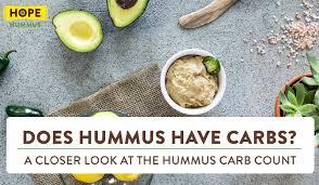 does hummus have carbs taking at