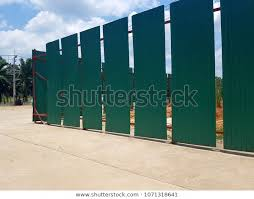 Green Construction Fence Stock Photo Edit Now 1071318641