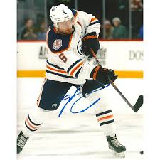Signed Adam Larsson Photo - 8X10 w COA