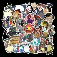 Hot Offer 53280 50pcs Miyazaki Hayao Anime Movie Cartoon Stickers Skateboard Guitar Motorcycle Laptop Luggage Joke Decal Sticker Classic Toy Kid Cicig Co