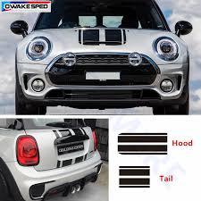 Racing Stripes Car Hood Tail Sticker Auto Accessories Decal For Mini Cooper S Countryman Clubman R56 R60 R61 F54 F55 F56 Car Stickers Aliexpress