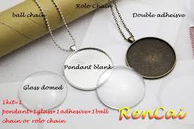 5kits 50mm round necklaces pendants