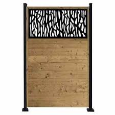 Barrette 4x6 Pre Treated Wood Fence Privacy Panel With Black Sprig Decorative Insert Lowe S Canada