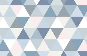 pastel triangle wallpaper mural