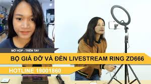 Bộ đèn livestream led tròn mini đa năng Led Ring ZD666 - YouTube