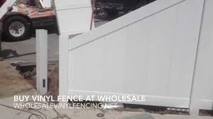 How To Cut Down A Section Of Vinyl Fence From 6 To 3 Tall Youtube