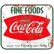 Coca Cola Fishtail 1960s Wall Decal Distressed Kitchen Decor At Retro Planet