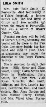 Lula Belle Smith Obituary - Newspapers.com