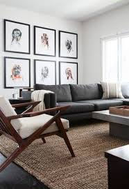 scenic grey couch brown rug home