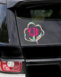 A Personal Favorite From My Etsy Shop Https Www Etsy Com Listing 588525534 Cotton Ball Monogram Decals With Images Lily Inspired Decals Monogram Decal Car Monogram Decal