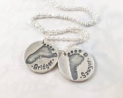 actual footprint necklace custom