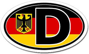 Amazon Com D For Deutschland Germany In German Flag Car Bumper Sticker Decal Oval Arts Crafts Sewing