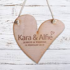 Personalised Wooden Door Sign Heart Shabby Chic Hanging Plaques Any Name Ebay