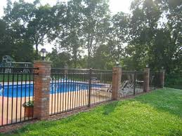 Sentry Fence Co A Quality Job Doesn T Cost It Pays Wrought Iron Pool Fence Brick Fence Fence Around Pool