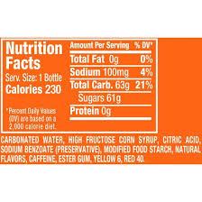 sunkist orange soda 5 l bottles 6
