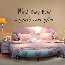 Amazon Com And They Lived Happily Ever After Love Wall Decal Vinyl Couples Love Quote Love Letters Words Wall Love Graphic Wall Mural Home Art Decor Dark Brown Kitchen Dining