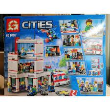 CÓ SẴN) bộ đồ chơi lắp ráp Lego City Lepin 02113 Lion king 621087 Bệnh Viện Thành  Phố mới