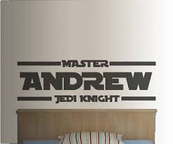 Personalised Starwars Jedi Knight Name Vinyl Wall Art Decal Sticker 4 Sizes Ebay