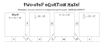 two step equation maze gina wilson all