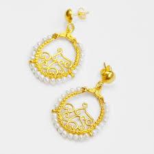 zenobia pearl beaded chandelier earrings