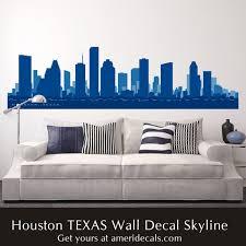 Houston Texas City Skyline Wall Decal
