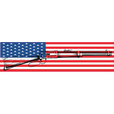 8inx2in American Flag Gun Bumper Sticker Patriotic Vinyl Car Window Decal Walmart Com Walmart Com