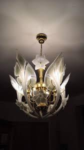italian pendant lamp with murano glass