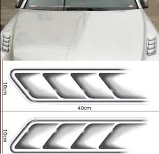 3d Shark Grilles Sticker Car Styling Fake Vents Air Flow Fender Decor Decal Ni J