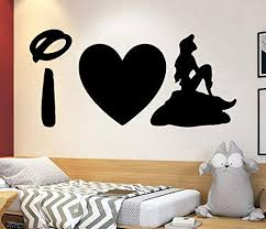 Amazon Com The Little Mermaid Wall Decal Ariel Decal Disney Quotes Boy And Girl Name Decal Trendy Sticker Baby Room Decal 4114 Handmade
