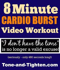 8 minute quick sweat cardio burst video