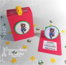 Scrapandome Con Los Recuerdos Invitaciones De Mario Bros