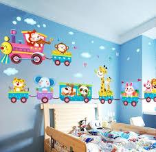 Funny Cute Baby Kid S Bedroom Decor Childrens Jungle Animal Train Childrens Printed Wall Art Vinyl Stickers Wish
