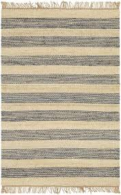 davina navy striped jute fringed rug