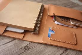 custom leather binder flixgifts
