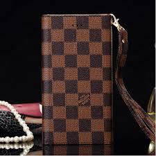 lv classic pattern tri fold leather