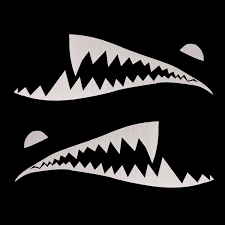 150cmx50cm Shark Month Teeth Vinyl Sticker Car Body Exterior Scratch Cover Decal Waterproof Alexnld Com
