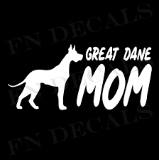 Great Dane Mom Vinyl Decal Sticker V2 Dane Dog Great Dane Dogs Great Dane Puppy