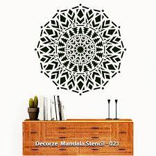 Mandala Stencil Prosperity Mandala Stencil Reusable Wall Painting Stencils