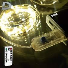 Chỉ 66,600đ Dây đèn led đom đóm trang trí, đầu cắm USB, kèm điều khiển, 8  chế độ nháy, vàng nắng dài 20 M, 10 M, 5M DEHA