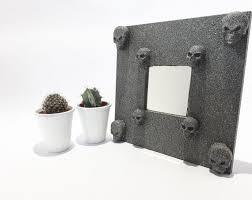 stone effect skull mirror gothic